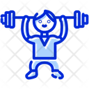 Lifting Weight Gym Icon