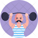Lifting Weight Weight Exercise Icon