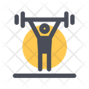 Weight Lifting Barbell Lifting Icon