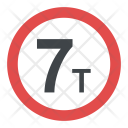 Weight Limit Sign Icon