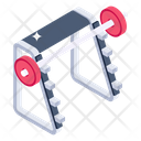 Free Weights Fitness Equipment Weight Rack Icon
