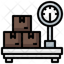 Weight Scale Postal Service Weighing Machine Icon