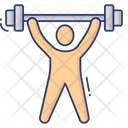 Weightlift Gymnast Dumbbell Icon