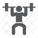 Weightlifter Sport Bodybuilding Icon