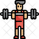Weightlifter Weightlifting Fitness Icon