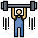 Weightlifter Weightlifting Gym Icon