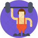 Weightlifting Bodybuilder Gym Icon