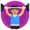 Bodybuilder Weightlifter Fitness Icon