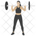 Weightlifting Bodybuilding Athlete Icon