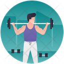 Weightlifting Icon in Gradient Style