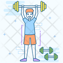 Weightlifting Olympics Game Bodybuilding Icon