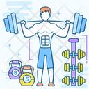 Dumbbell Fitness Halteres Icon