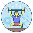 Exercise Strong Muscle Bodybuilding Icon