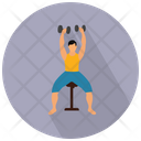 Weightlifting Fitness Gym Icon