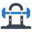 Barbell Weightlifting Gym Icon