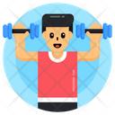 Weightlifting Exercise Gym Equipment Icon