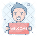 Welcome Greeting Salutation Icon