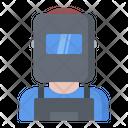 Welder Mask Man Icon