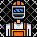 Welder Worker Person Icon