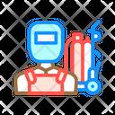 Welder Worker Color Icon