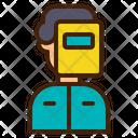 Welder Worker Man Icon