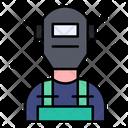 Welder Protective Gear Welder At Work Icon