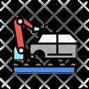 Welding Car Conveyor Icon