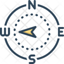 West Direction Compass Icon
