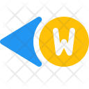 West Direction Arrow Icon