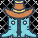 Western Cowboy Hat Icon