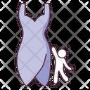 Western Dress Frock Dress Icon