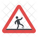 Wet Floor Sign Icon