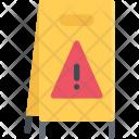 Wet Floor Sign Icon