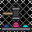 Whack A Mole Player Entertainment Icon