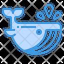 Whale Ocean Aquatic Icon