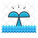Whale Tail Animal Icon