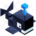 Whale Animal Isometric Icon