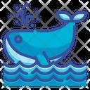 Whale Aquatic Animal Sea Ocean Icon