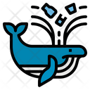 Whale Plastic Waste Icon