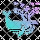 Whale Plastic Waste Icon