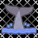 Whale Tail Sea Icon