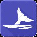 Whale Fin Sea Icon