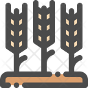 Wheat Farm Harvest Icon
