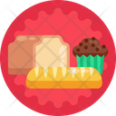 Bread Cake Queen Cake Icon