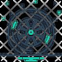 Wheel Tyre Rubber Icon