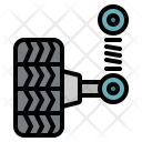 Wheel Tire Garage Icon