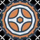 Wheel Motorycle Steering Icon