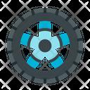 Wheel Tyre Electric Vehicle Icon