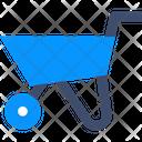 Wheelbarrowm Wheel Barrow Mining Cart Icon