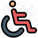 Wheel Chair Handicap Army Icon
